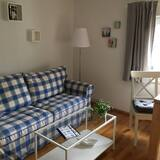 Двухместный номер с 1 двуспальной кроватью, общая ванная комната (Grüner Salon) - Зона гостиной