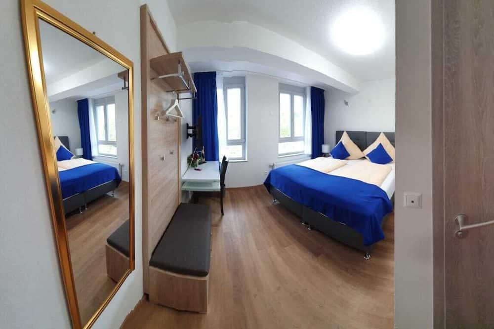 Verslo klasės kambarys (1 dvigulė / 2 viengulės lovos) - Svečių kambarys