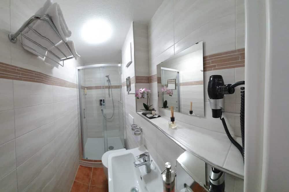 Verslo klasės kambarys (1 dvigulė / 2 viengulės lovos) - Vonios kambarys