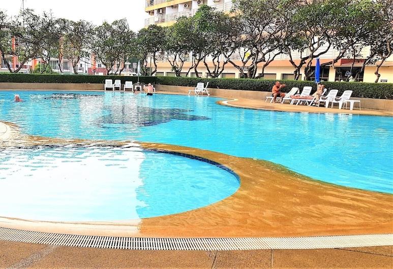 Seaview Floor 11 Jomtien Beach, Pattaya, Căn hộ, 1 giường cỡ king, Hồ bơi