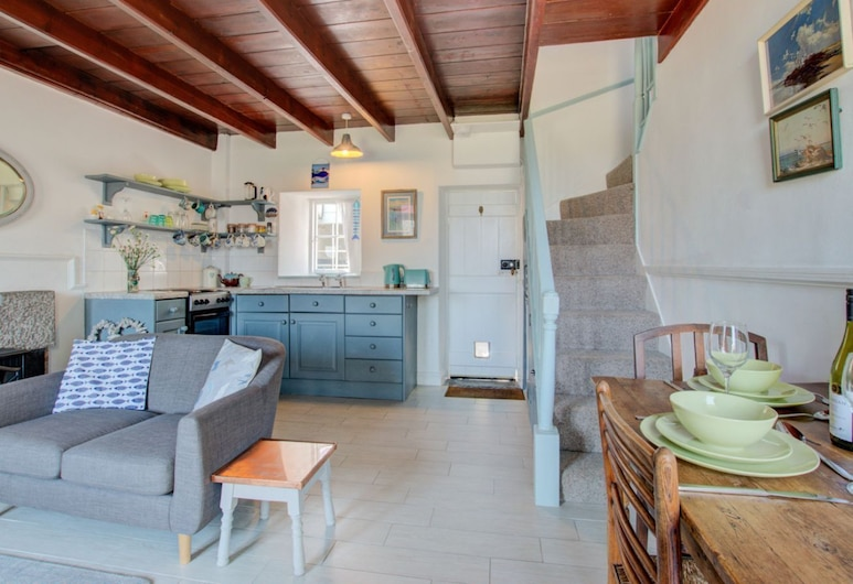 Cosy Mousehold Cottage with Sea Views, Penzance, Chatka typu Exclusive, Obývacie priestory