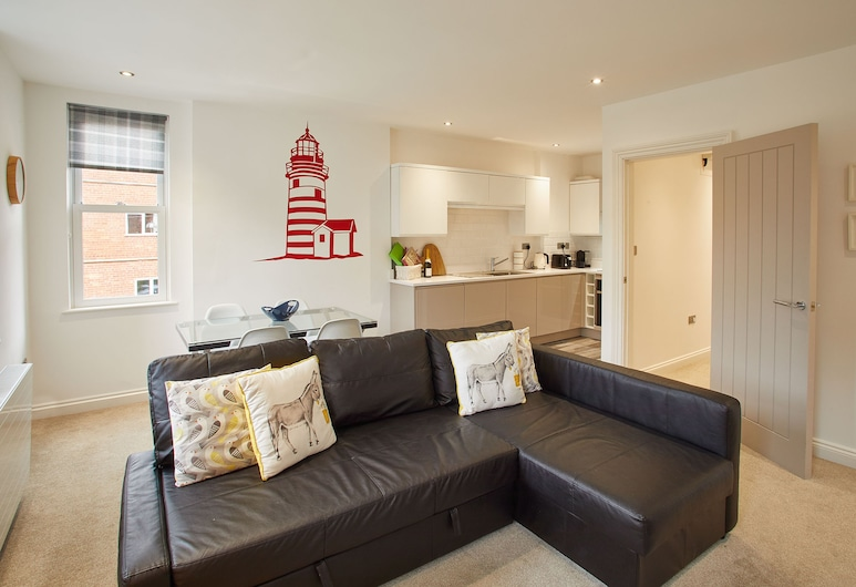 Number 2 at Pannett Apartments, Whitby, 2 Bedroom Apartment, Living Room