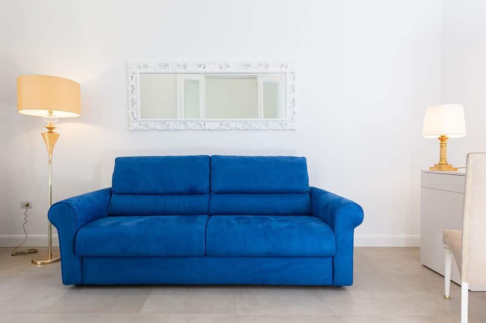 Deluxe-Suite, 1 Schlafzimmer, Balkon, Stadtblick (Barocca) - Wohnzimmer