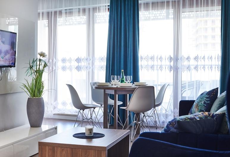 Wronia Oxygen Residence, Warszawa, Lägenhet Deluxe, Vardagsrum