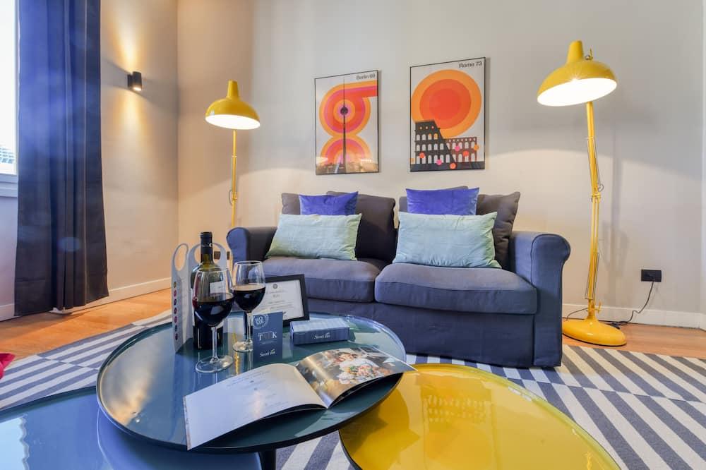 Апартаменты «Делюкс», 1 спальня (Piazza Affari) - Гостиная