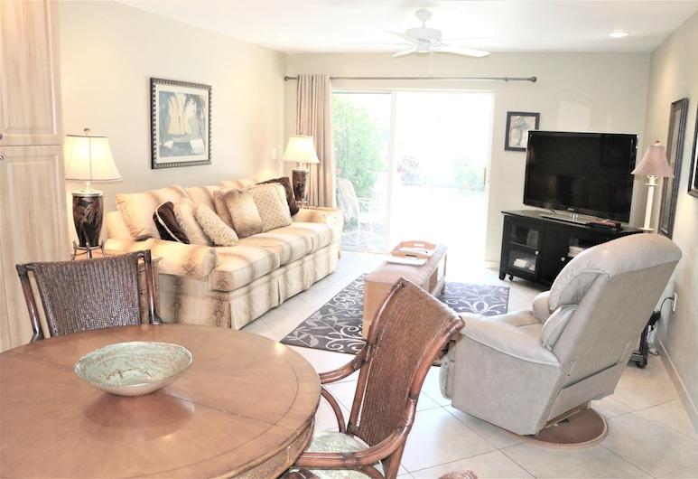 Jamaica Royale 107 Updated Gulfside Villa! 2 Bedroom Villa, Siesta Key, Villa, 2 Quartos, Sala de Estar