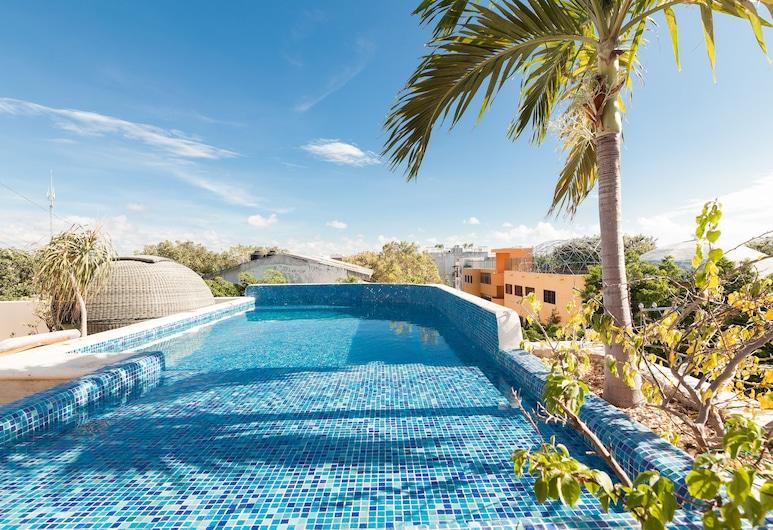 甜蜜生活公寓式酒店, 卡曼海灘, 天台泳池