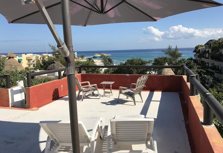 Embarcadero Maya B&B, Playa del Carmen, Apartament typu Panoramic Penthouse, Taras/patio