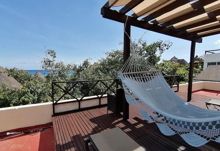 英巴卡迪諾瑪雅民宿, 卡曼海灘, 基本雙人或雙床房, 露台