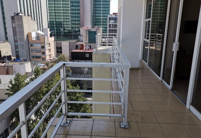 Hotel Suites San Marco, Mexico City, Premium Suite, Balcony, City View, Terrace/Patio