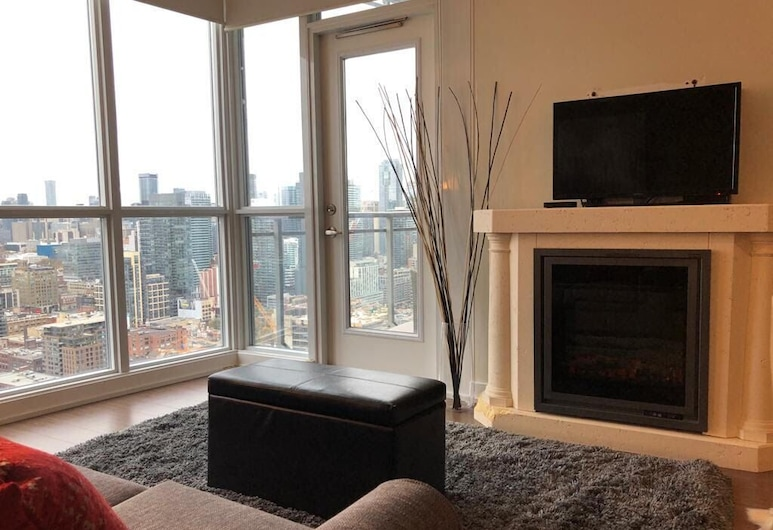 Galaxy Suites - City View Toronto, Toronto, Luxury Apartment, 1 Bedroom, Pool Access, City View, Living Area