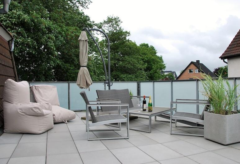 Haus Santalla, Cuxhaven, Departamento, 1 habitación, balcón (Oberdeck), Terraza o patio