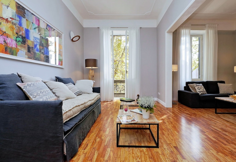Trastevere 3 - WR Apartments, Rome, Apartment, 3 Bedrooms, Living Room