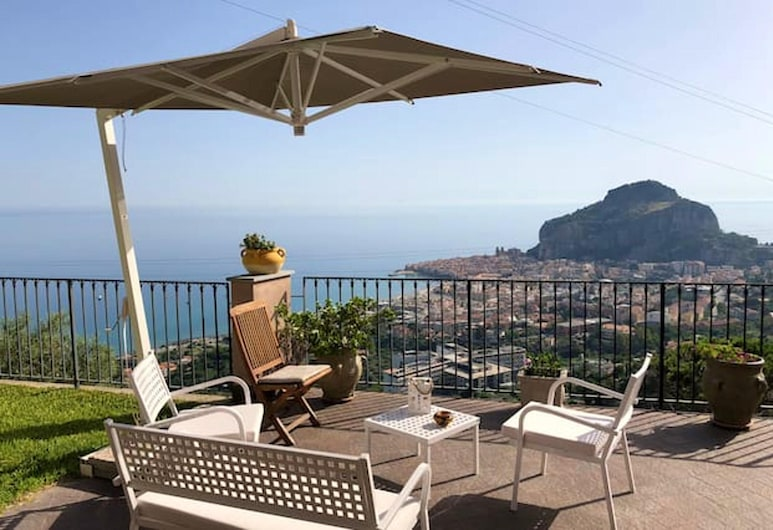 Villa With 3 Bedrooms in Provincia di Palermo, With Wonderful sea View, Enclosed Garden and Wifi - 2 km From the Beach, Cefalù, Terrass