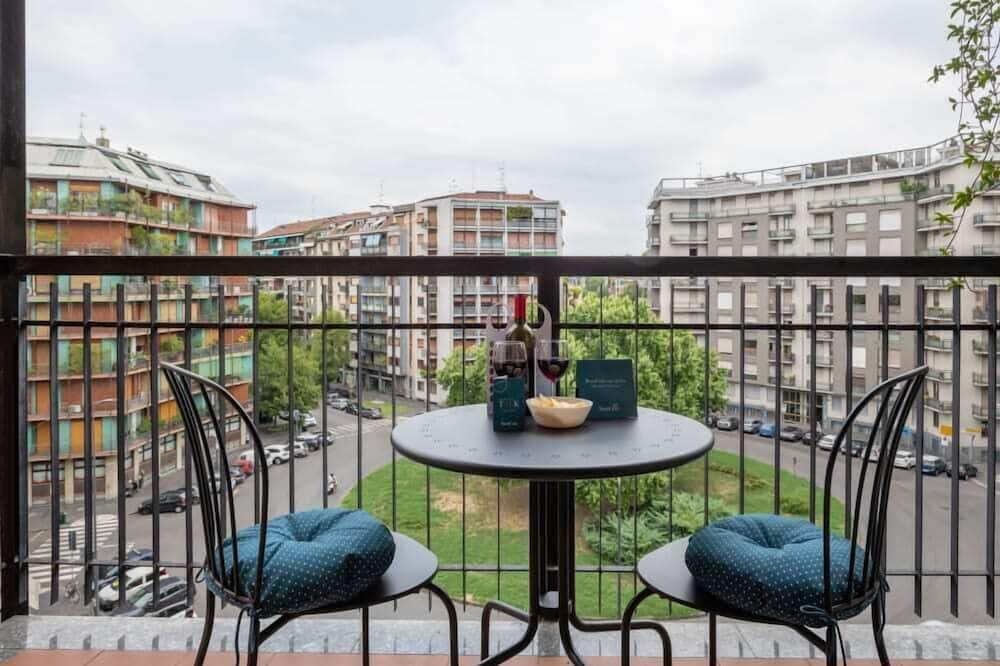 Apartamentai mieste, 1 miegamasis - Balkonas