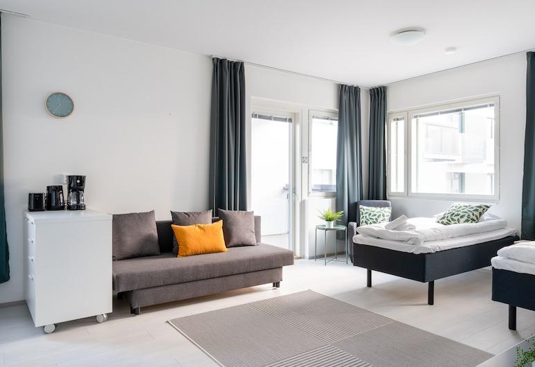 Hiisi Homes Vantaa Kaivoksela, Vantaa, Departamento estándar, 1 habitación, balcón, Sala de estar