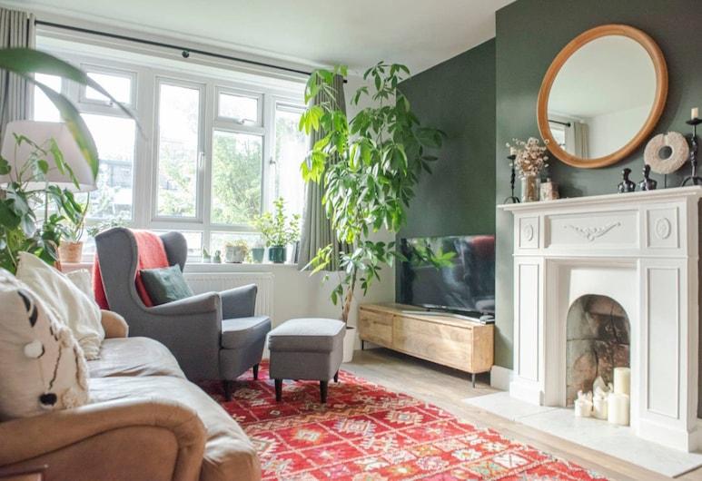 海布里美麗波希米亞 1 房公寓酒店, 倫敦, 客廳