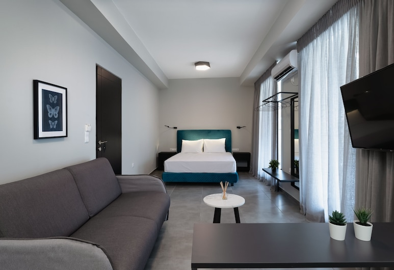 Ermou Athens City Center Apartment, Atenas, Apartamento urbano, Sala
