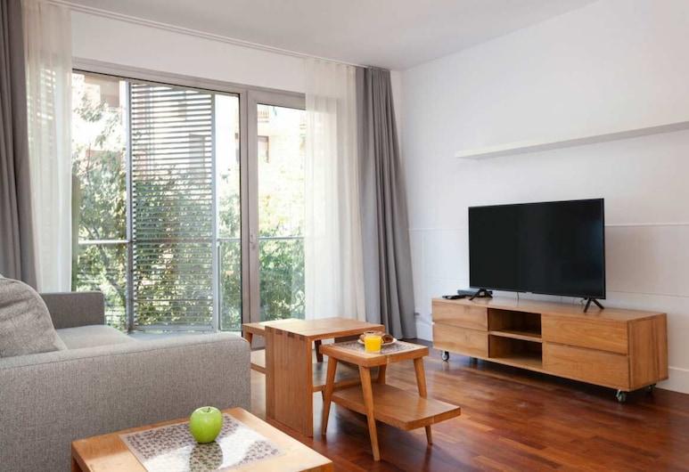 Enjoybcn Paris Apartments, Barcelona, Apartmán typu Deluxe, Obývacie priestory