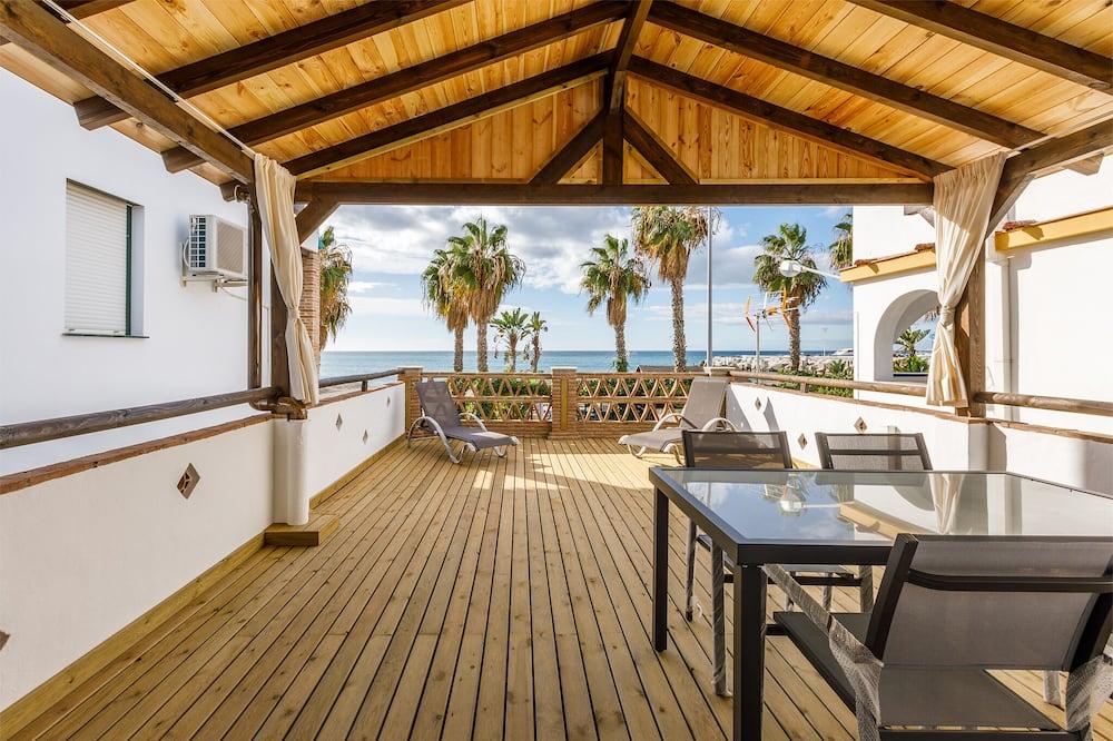 Будинок, 1 спальня, тераса, з видом на пляж - Тераса/внутрішній дворик