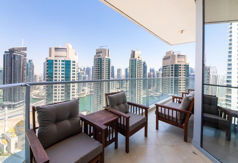 Maison Privee Trident Grand, Dubajus, Liukso klasės apartamentai, 3 miegamieji, Balkonas