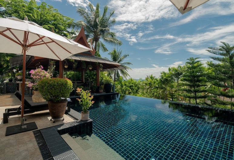 세련된 바다 전망 빌라 - 침실 4개, 수린 비치 인근, Choeng Thale