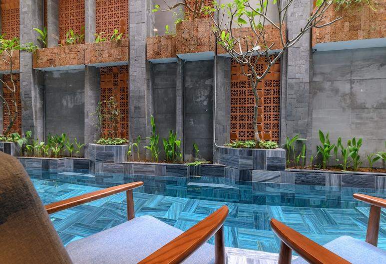 雛菊公寓精品飯店, 峴港, 豪華雙人房, 可使用泳池, 客房景觀