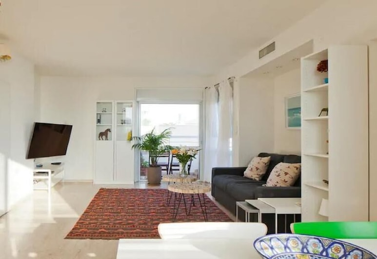 濱海公寓酒店 - 豪華複合式, 特拉維夫, 奢華複式房屋, 客廳
