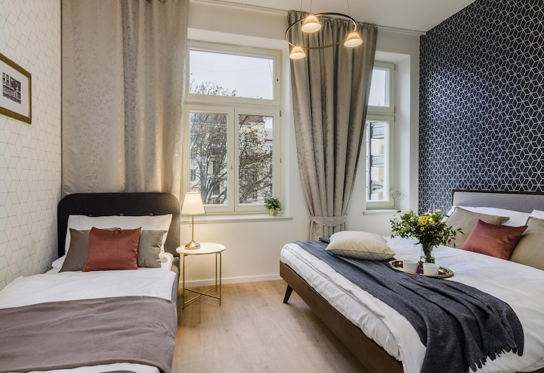 Royal Vineyards Apartments Prague, Prag, Comfort Apart Daire, 2 Yatak Odası (Slezska 53), Oda