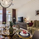 דירה מעוצבת, 2 חדרי שינה (Slezska 43) - אזור אוכל בחדר