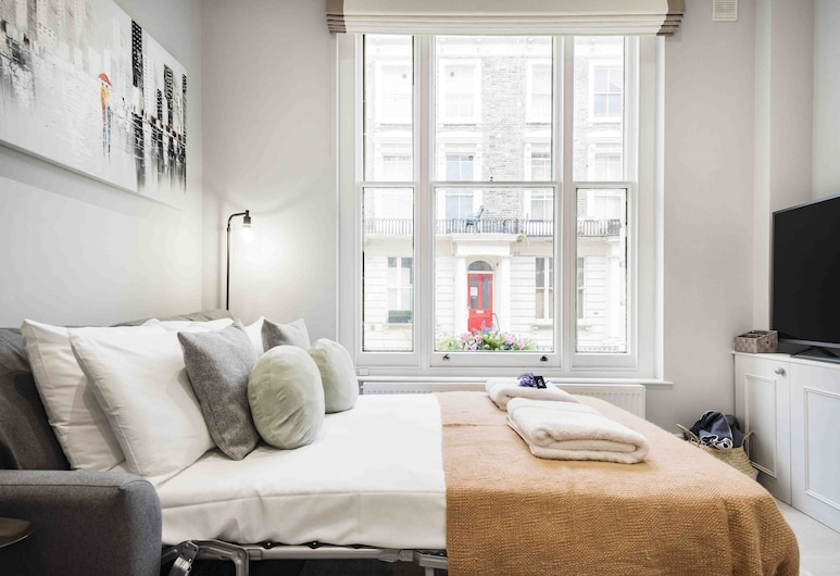 Bright and Modern Bayswater Apartment, London, City apartman (1 Bedroom), Szoba