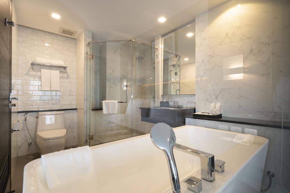 Executive-Zimmer, 1King-Bett, Balkon, Flussblick - Badezimmer