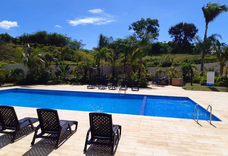Apartment With 3 Bedrooms in Santiago De Los Caballeros, With Wonderful Mountain View, Shared Pool, Enclosed Garden, Puñal, Piscina