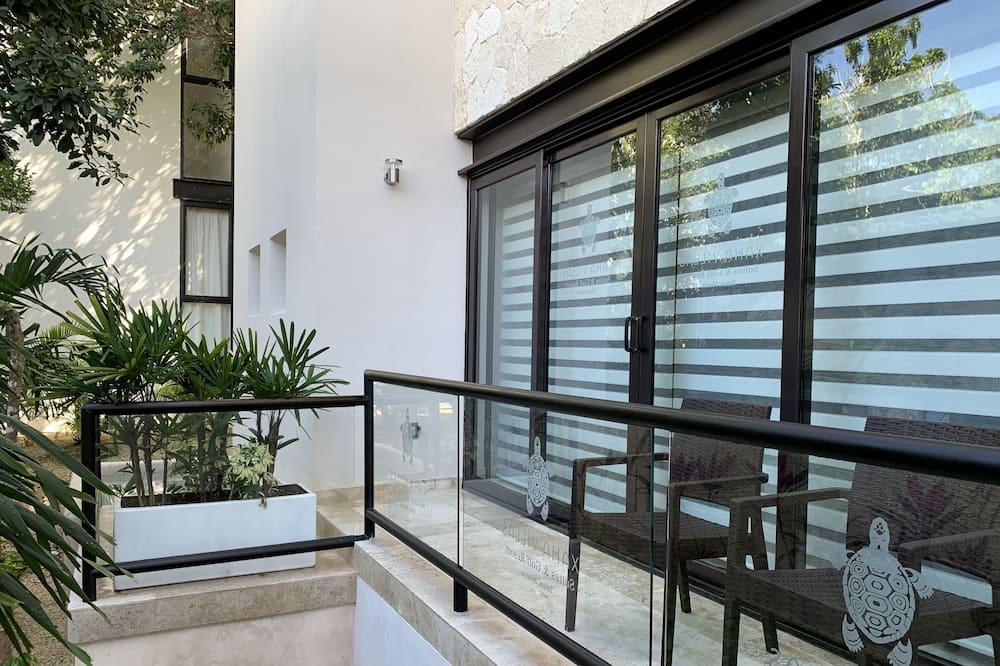 Deluxe-Doppel- oder -Zweibettzimmer, 1 Schlafzimmer, Balkon, Gartenblick - Terrasse/Patio
