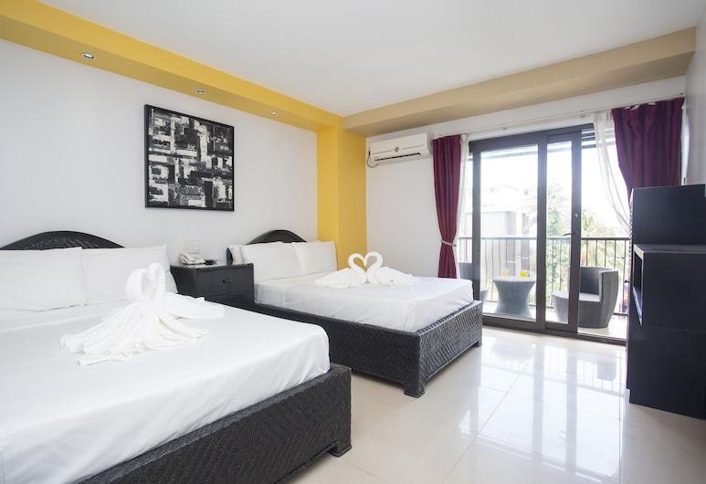 YCL Hotel Boracay, Boracay Island, Habitación cuádruple superior, 2 camas dobles, para no fumadores, Habitación