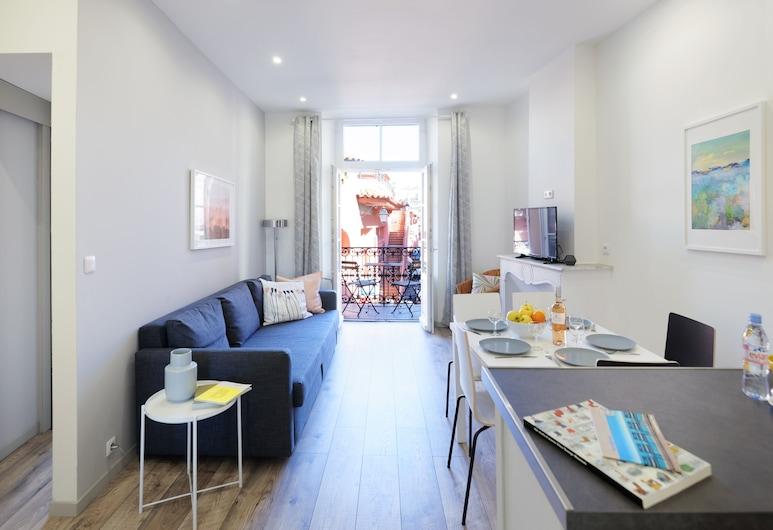 感受里维埃拉酒店 - 福尔维尔 1, 戛纳, 公寓, 起居区