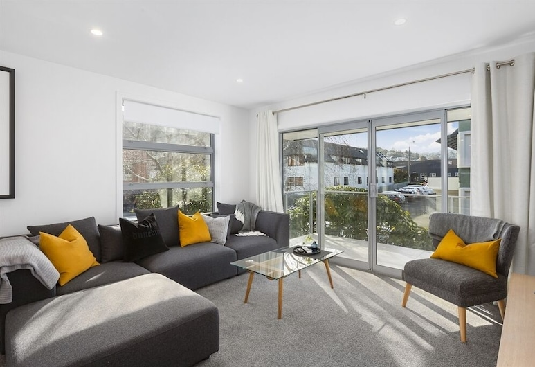 The Cedar Luxury Apartments 2 Bedroom, Dunedin, Departamento, Sala de estar