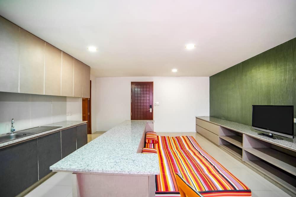 סוויטה, חדר שינה אחד - אזור מגורים