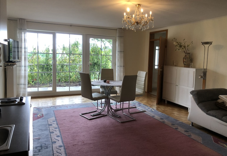 Idyllisches Wohnen Weinberg, Bad Kissingen, Paaugstināta komforta dzīvokļnumurs, viena guļamistaba, Dzīvojamā zona