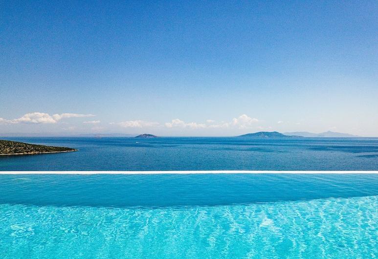 Villa with Striking views over the infinity Pool , Epidaurus, Basen z ukrytą krawędzią