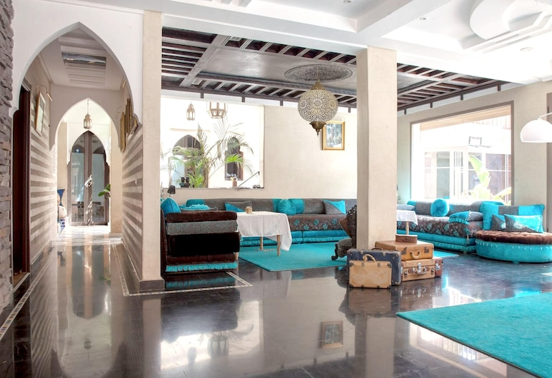 Villa With 7 Bedrooms in Marrakesh, With Wonderful Mountain View, Private Pool, Enclosed Garden, Marrakech, Dnevna soba