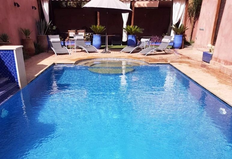 Villa With 4 Bedrooms in Marrakech, With Private Pool, Enclosed Garden and Wifi, Saâda, Medence