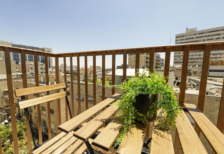 New - Trendy One Bedroom Apt, Most Popular Area, Jerusalem, Apartment, 1 Bedroom, Balcony, City View, Balcony