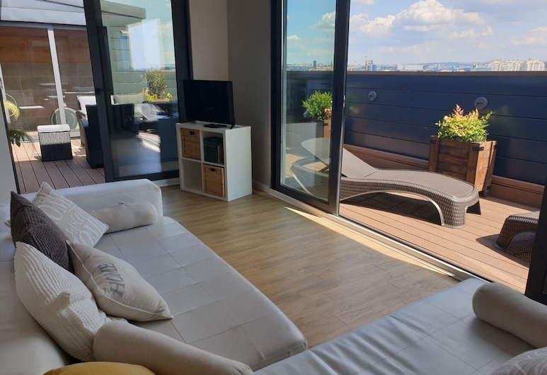 Penthouse, Belgrade, Apartment, Living Room