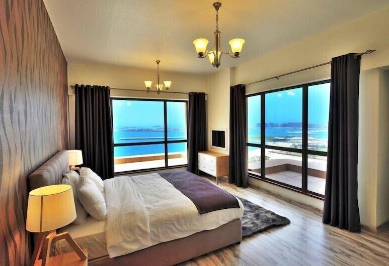 Vacation bay Sadaf 4, Dubajus, Prabangaus stiliaus apartamentai, 2 miegamieji, vaizdas į jūrą, Kambarys