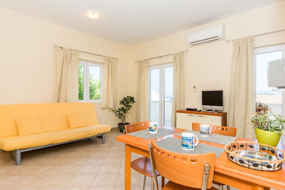 公寓, 1 間臥室, 露台, 海景 - 客廳
