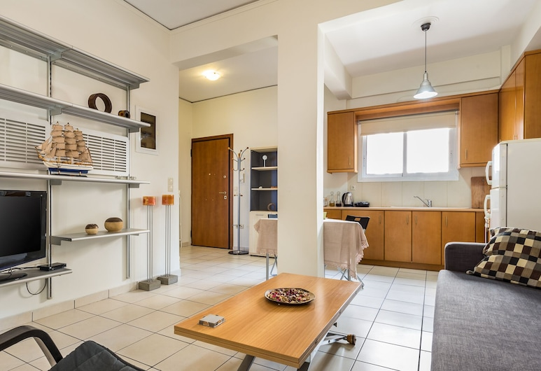Centrally located apartment - Acropolis, Athens, Apartment, 1 Bedroom, Living Room