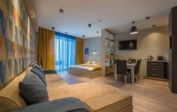 Kazbegi bölgesindeki New Gudauri Atrium Apartment 243 resmi