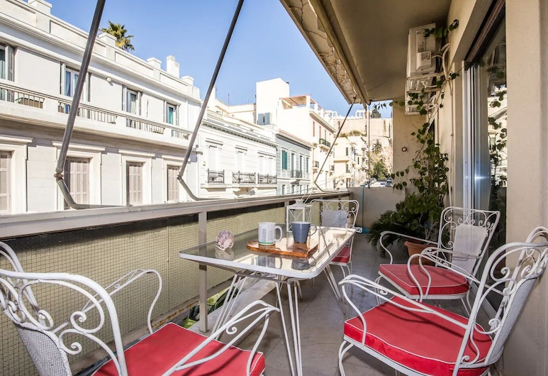 Amazing Acropolis View Two Bedrooms, Atenas, Apartamento, Varanda