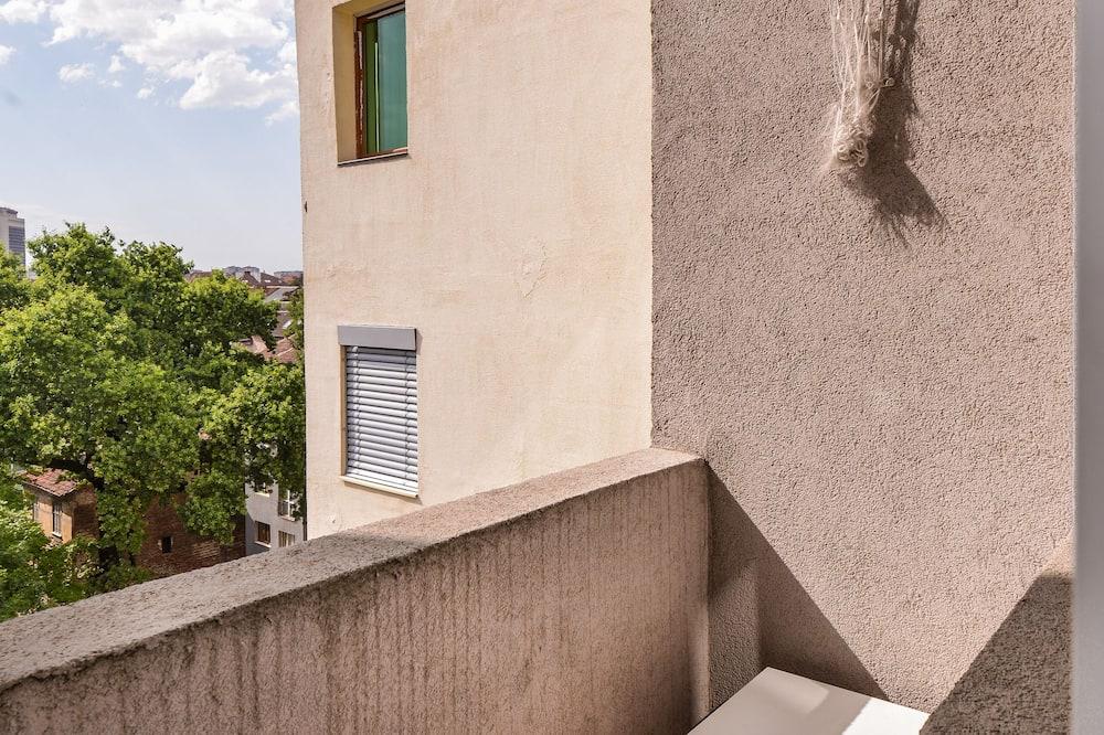Appartement, 2 slaapkamers, Balkon, uitzicht op tuin - Balkon